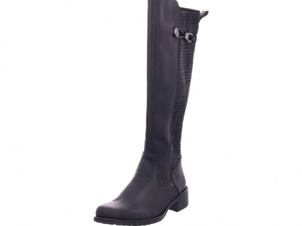 Rieker Z739200 Z73 Damen Stiefel lang Overknees Boots Langschaft schwarz Z7392-00