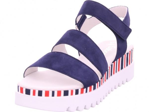 Gabor Damen Sandale Sandalette Sommerschuhe blau 44.660.16