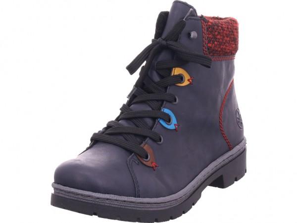 Rieker Y943314 Y94 Damen Stiefel blau Y9433-14
