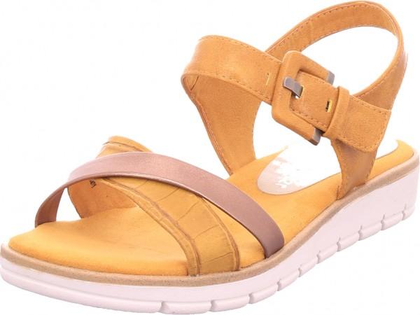 Marco Tozzi Damen Sandalette Damen Sandale Sandalette Sommerschuhe gelb 2-2-28607-26/674