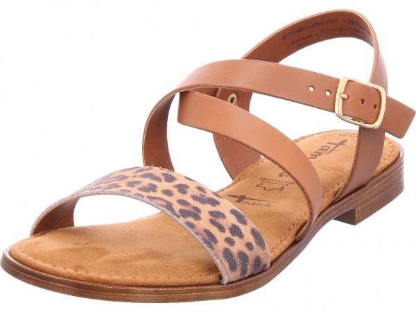 Tamaris Da.-Sandalette Damen Sandale Sandalette Sommerschuhe braun 1-1-28183-32/392-392