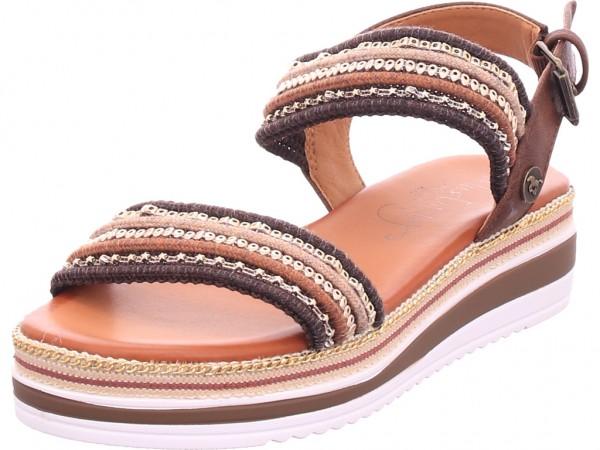 Mustang Damen Sandale Sandalette Sommerschuhe braun 139088023