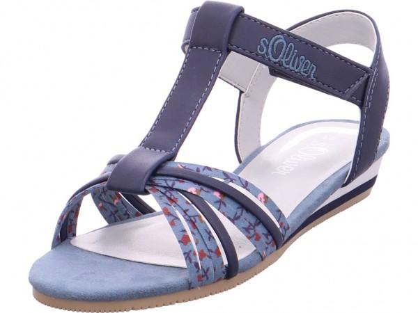 s.Oliver Ki.-Sandalette Mädchen Sandale Sandalette Sommerschuhe blau 5-5-48200-20/800-800