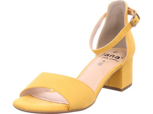 Jana Woms Sandals Damen Sandale Sandalette Sommerschuhe gelb 8-8-28314-32/627-627