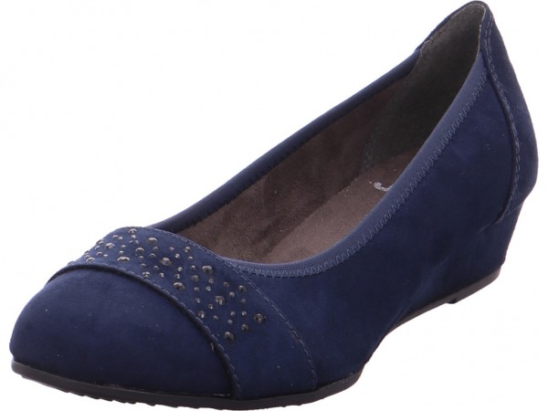 Jana Woms Court Shoe Damen Pumps elegant Abendschuhe Party Ball blau 8-8-22260-21/805-805