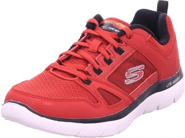 SKECHERS SUMMITS - NEW WORLD Herren Sneaker rot 232069 RDBK