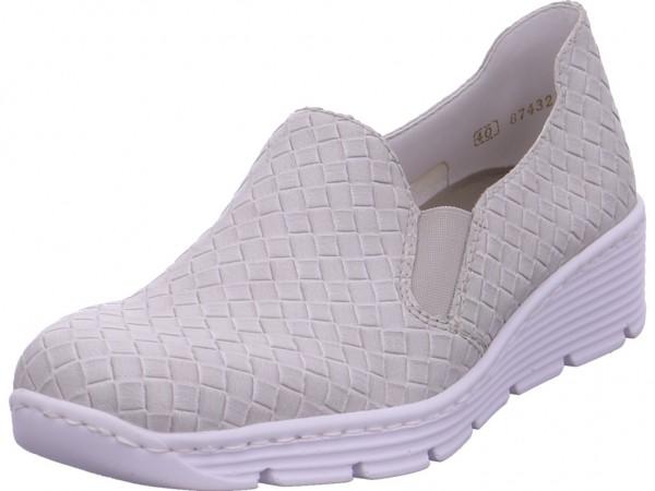 Rieker Damen Sneaker Slipper Ballerina sportlich zum schlüpfen grau 587B0-41