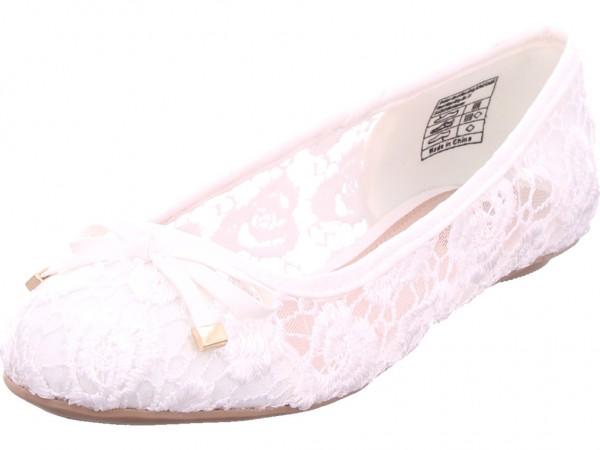 Jane Klain Ballerina glatt und sportlich Pumps flach Ballerina weiß 221170019