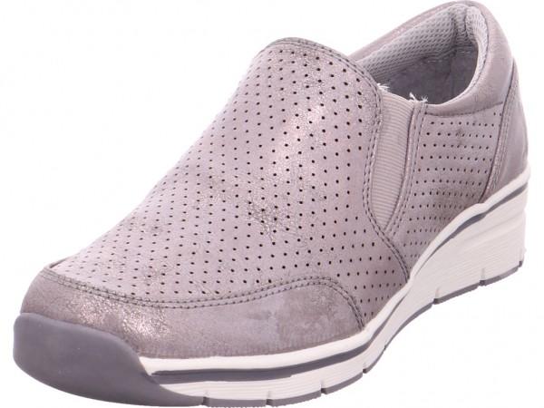 firence Beq.bis25mm-Abs Damen Sneaker Slipper Ballerina sportlich zum schlüpfen beige 4820105