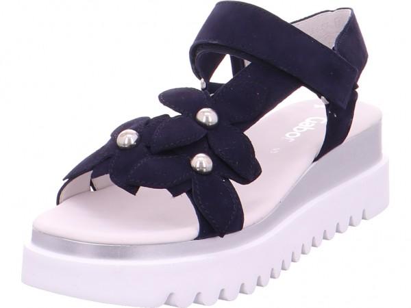 Gabor Damen Sandale Sandalette Sommerschuhe blau 23.611.16