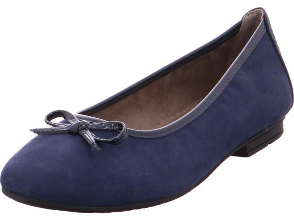 Jana Da.-Ballerina Damen Pumps flach Ballerina blau 8-8-22164-24/805-805