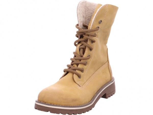 Marco Tozzi Da.-Stiefel Winter Stiefel Boots Stiefelette warm Schnürer gelb 2-2-26254-33/634