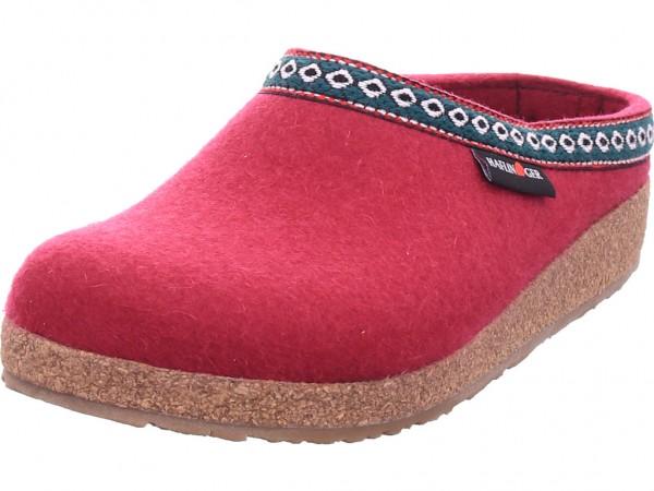 Haflinger Damen Pantolette Sandalen Hausschuhe rot 711001-33