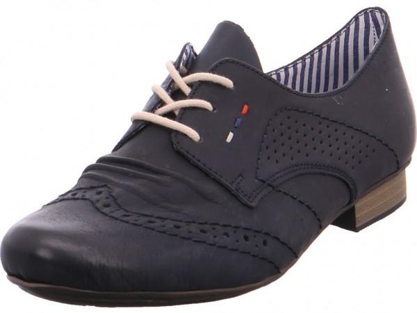 Rieker Damen Halbschuh Sneaker Sport Schnürer zum schnüren blau 5193714