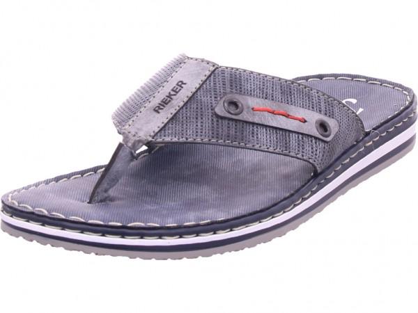 Rieker Herren Pantolette Sandalen Hausschuhe blau 21569-14