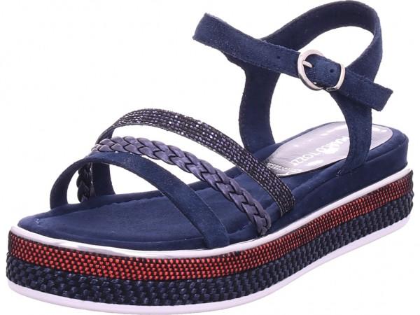 Marco Tozzi Da.-Sandalette Damen Sandale Sandalette Sommerschuhe blau 2-2-28735-26/890