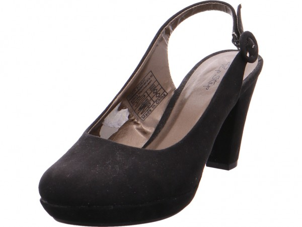 Quick-Schuh Sling - ab 50mm - Absatz/Keil Sling Pumps elegant Abendschuhe Ball Party schwarz 6QX1-S0323-Black