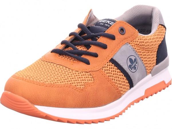 Rieker Damen Schnürschuh Halbschuh sportlich Sneaker orange 16114-38