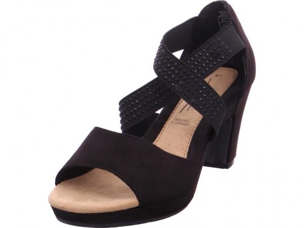 Softwaves Damen Sandale Sandalette Sommerschuhe schwarz 283715000007