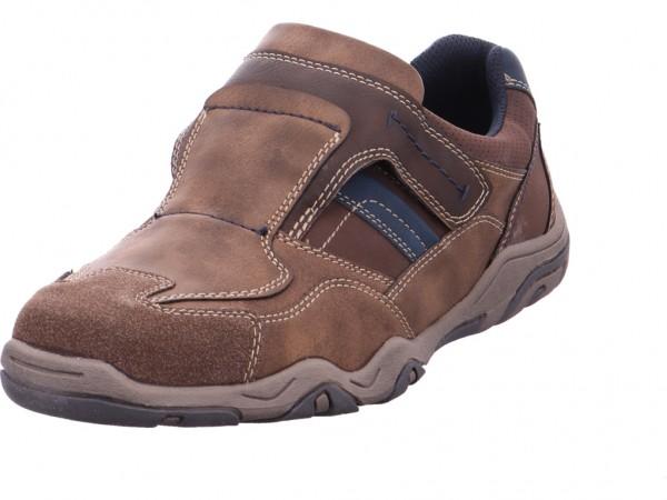 Montega Slipper Sportboden Schnürschuh Halbschuh sportlich Sneaker braun 4812801
