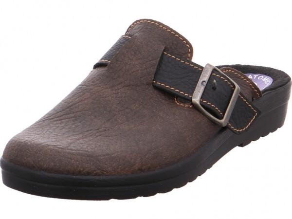 Bild 1 - Quick-Schuh Clogs Tieffussbett Herren braun