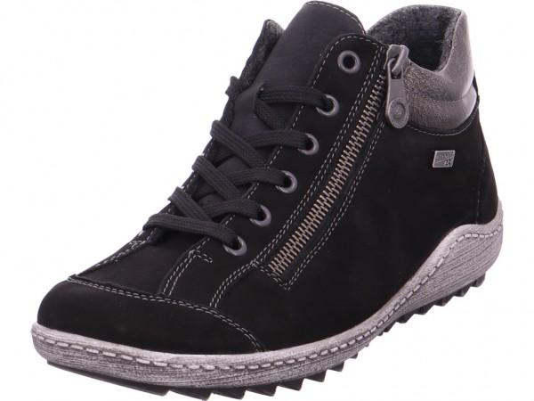 Remonte Damen Winter Stiefel Boots Stiefelette warm Schnürer schwarz R1483-02