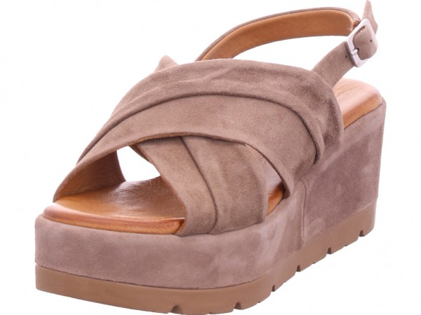 cafenoir Damen Sandale Sandalette Sommerschuhe braun GHF531