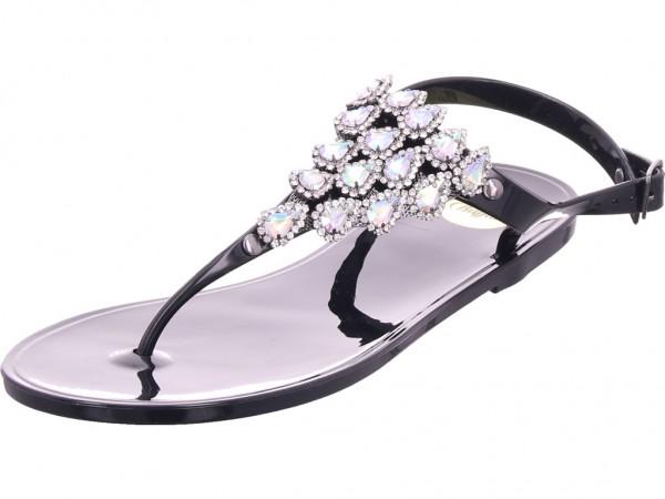 BUFFALO Damen Sandale Sandalette Sommerschuhe schwarz 1610032