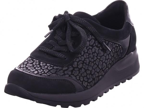 Waldläufer Hiroko-Soft/H,schwarz Damen Halbschuh Sneaker Sport Schnürer zum schnüren schwarz H64006