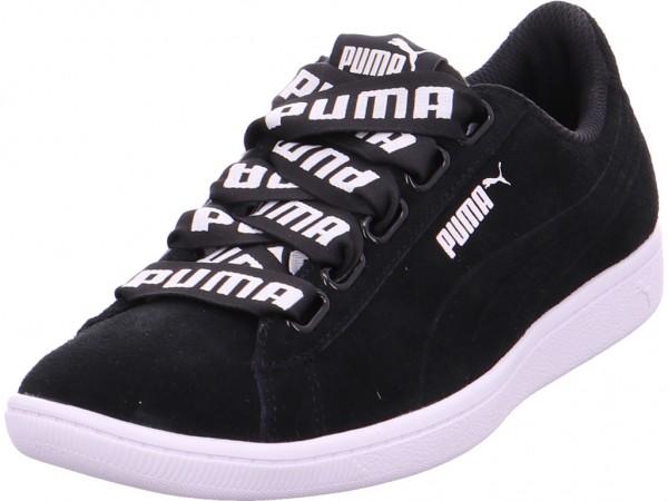 Puma Puma Vikky Ribbon Bold Damen Halbschuh Sneaker Sport Schnürer zum schnüren schwarz 365312/001