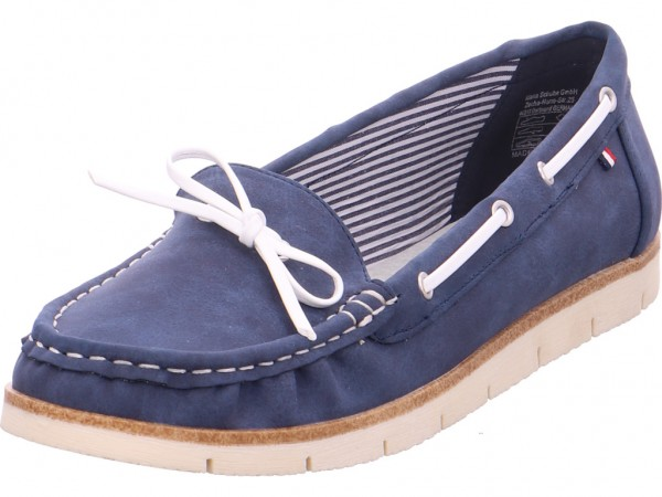 Jane Klain Slipper bis 25mm Damen Sneaker Slipper Ballerina sportlich zum schlüpfen blau 242276000/833