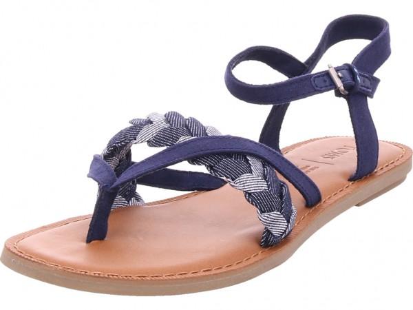TOMS Damen Sandale Sandalette Sommerschuhe blau 10013459