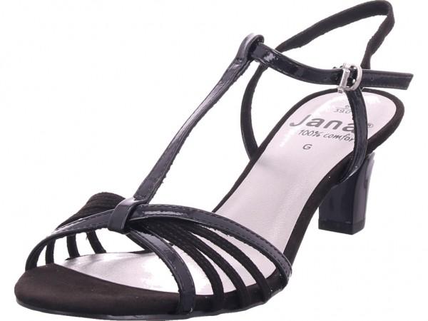 Jana Woms Sandals Damen Sandale Sandalette schwarz 8-8-28316-32/001-001