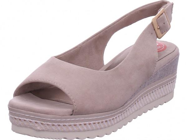 Jana Da.-Sandalette Damen Sandale Sandalette Sommerschuhe beige 8-8-29600-26/400
