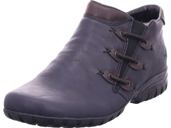 Rieker L468914 L46 Damen Winter Stiefel Boots Stiefelette warm zum schlüpfen blau L4689-14
