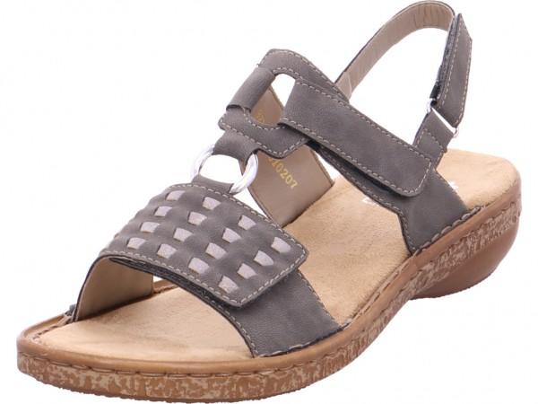 Rieker Damen Sandale Sandalette Sommerschuhe grau 6288345