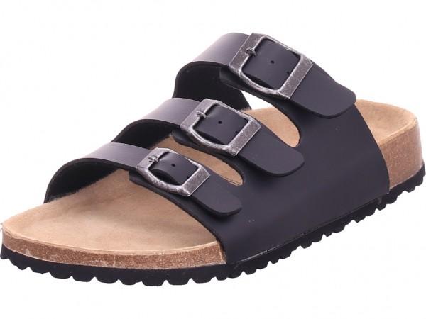 indigo Bio Damen flach Damen Pantolette Sandalen Hausschuhe schwarz 274153000/008