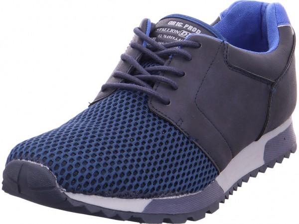 hengst Herren Schnürschuh Halbschuh sportlich Sneaker blau 370250
