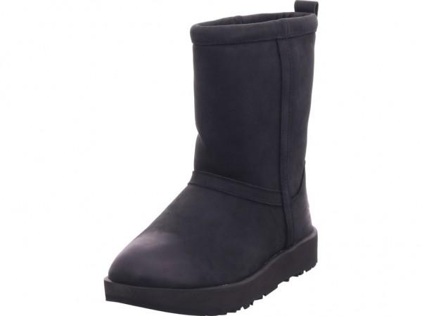 UGG Classic Short L Waterproof Damen Stiefel Schnürstiefel warm sportlich Boots schwarz 1017509 Black
