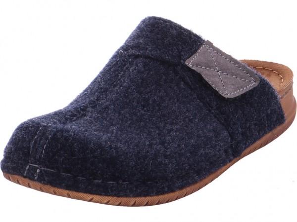 fischer Herren Pantolette Sandalen Hausschuhe blau 486517