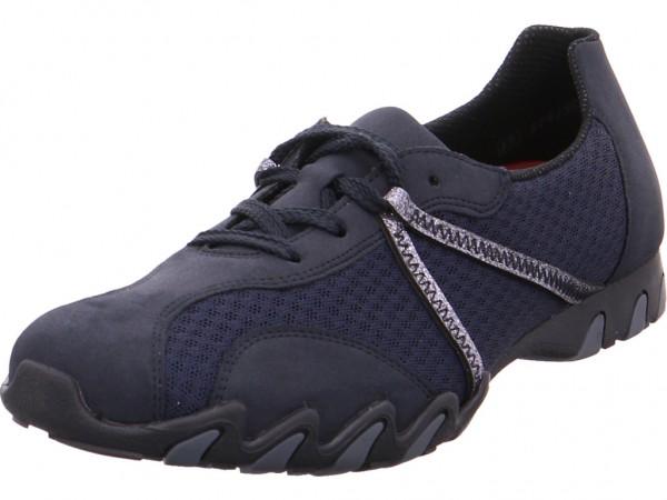 Rieker Damen Halbschuh Sneaker Sport Schnürer zum schnüren blau 49020-14