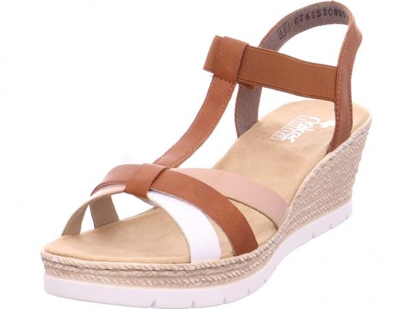 Rieker Damen Sandale Sandalette Sommerschuhe braun 61995-81