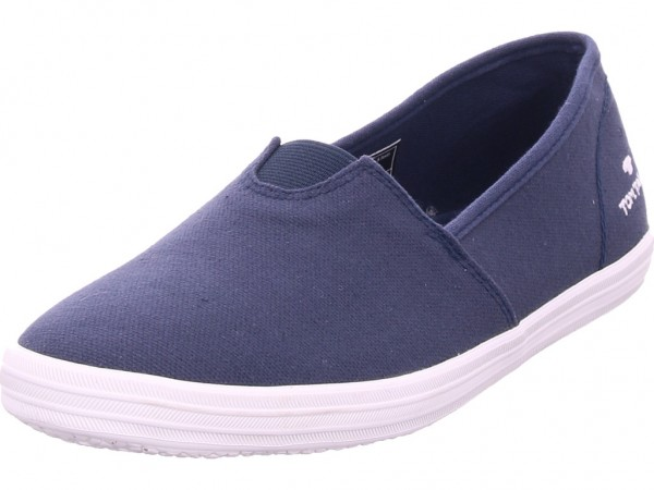 Tom Tailor Damen Slipper blau 6992404