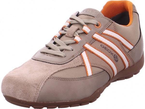 geox Herren Schnürschuh Halbschuh sportlich Sneaker beige U743FB05411C0704