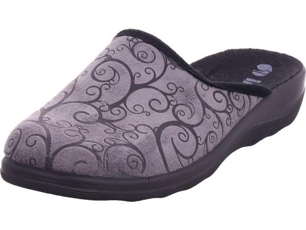 BOLD Damen Pantolette Sandalen Hausschuhe schwarz CAS1T798