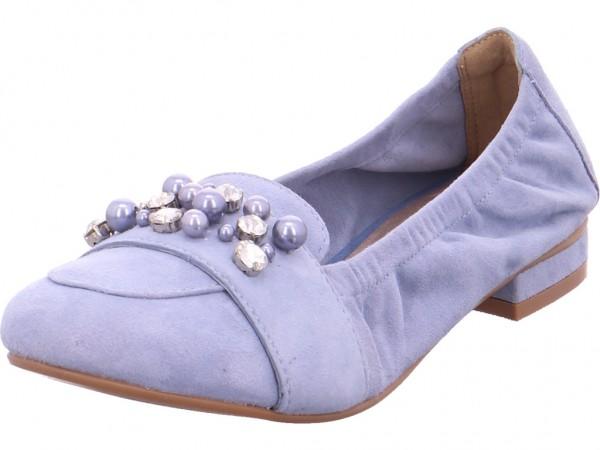 SPM NV Damen Sneaker Slipper Ballerina sportlich zum schlüpfen blau 23538820-01-01001-04087
