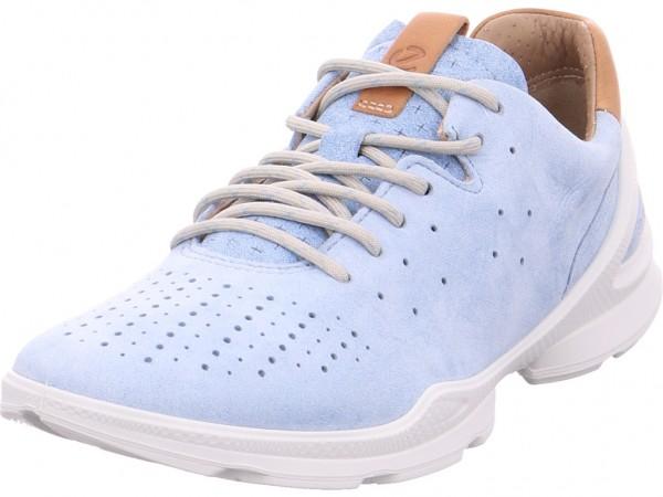 ecco Ladies Damen Halbschuh Sneaker Sport Schnürer zum schnüren blau 841803/02318