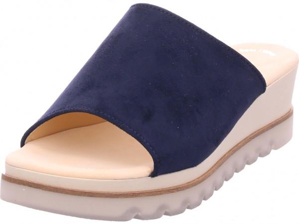 Gabor Damen Pantolette Sandalen Hausschuhe blau 23.643.46
