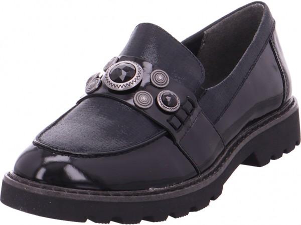 Tamaris Woms Slip-on Damen Sneaker Slipper Ballerina sportlich zum schlüpfen schwarz 1-1-24702-21/098-098