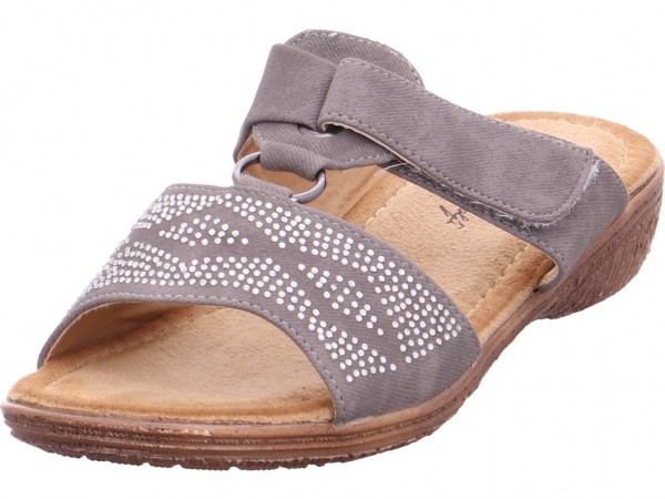 hengst Ladies Comfort Shoes Grey 82 Damen Pantolette Sandalen Hausschuhe Clogs Slipper grau 227455